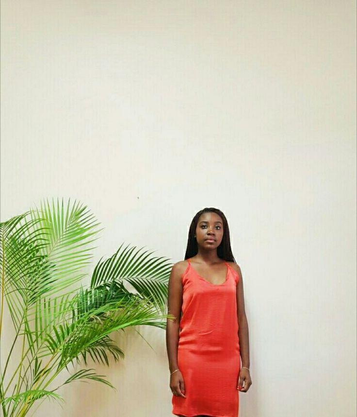 Burnt orange cami dress