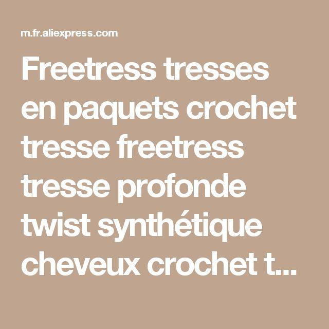 Freetress tresses en paquets crochet tresse freetress tresse profonde twist synthétique cheveux crochet tresses curlyNoir 3X Twist Rebond de la boutique en ligne | Aliexpress mobile