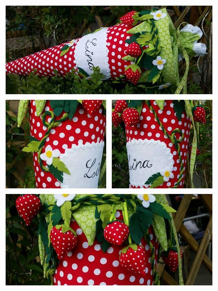 Erdbeerschultüte