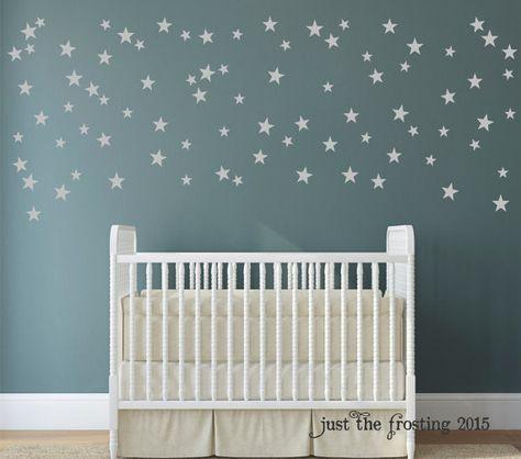 Silver Star Dekor Konfetti Sterne Aufkleber von JustTheFrosting
