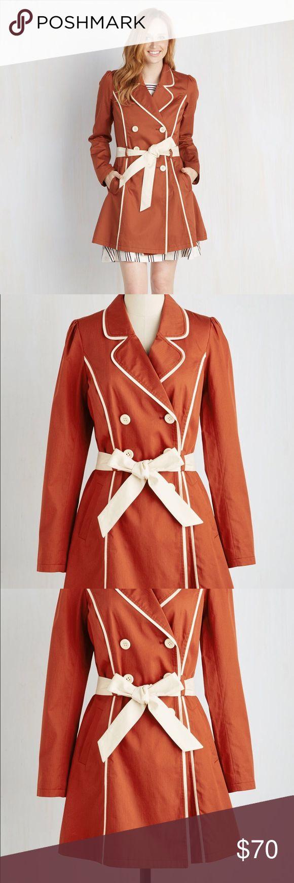 Modcloth East Coast Tour Coat in Paprika NWOT - Large ModCloth Jackets & Coats Trench Coats