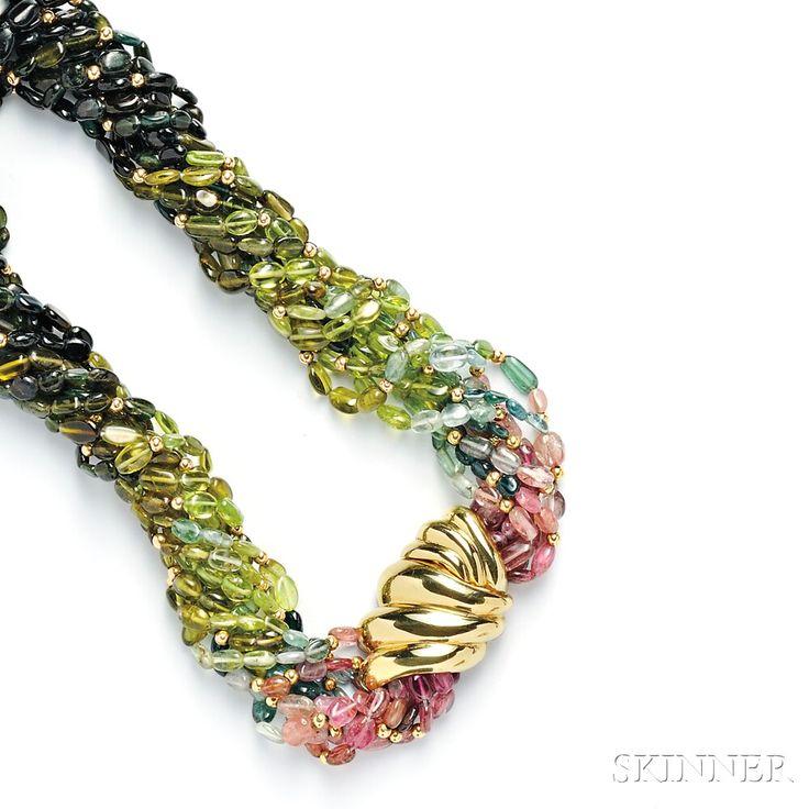 Tourmaline Bead Necklace