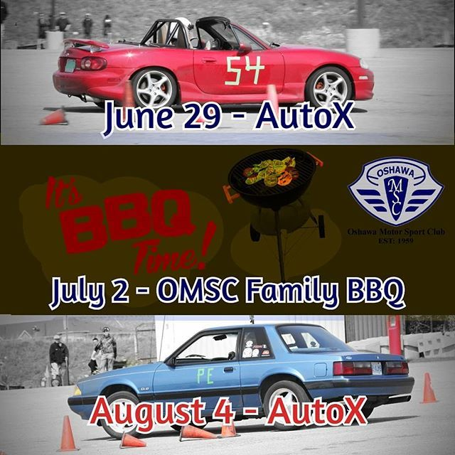A Few Omsc Events Coming Up Make Sure To Mark The Dates Down On Your Calendar Oshawamsc Autocross Autox Motorsport Carclub Oshawa Motorsport Sports Clubs