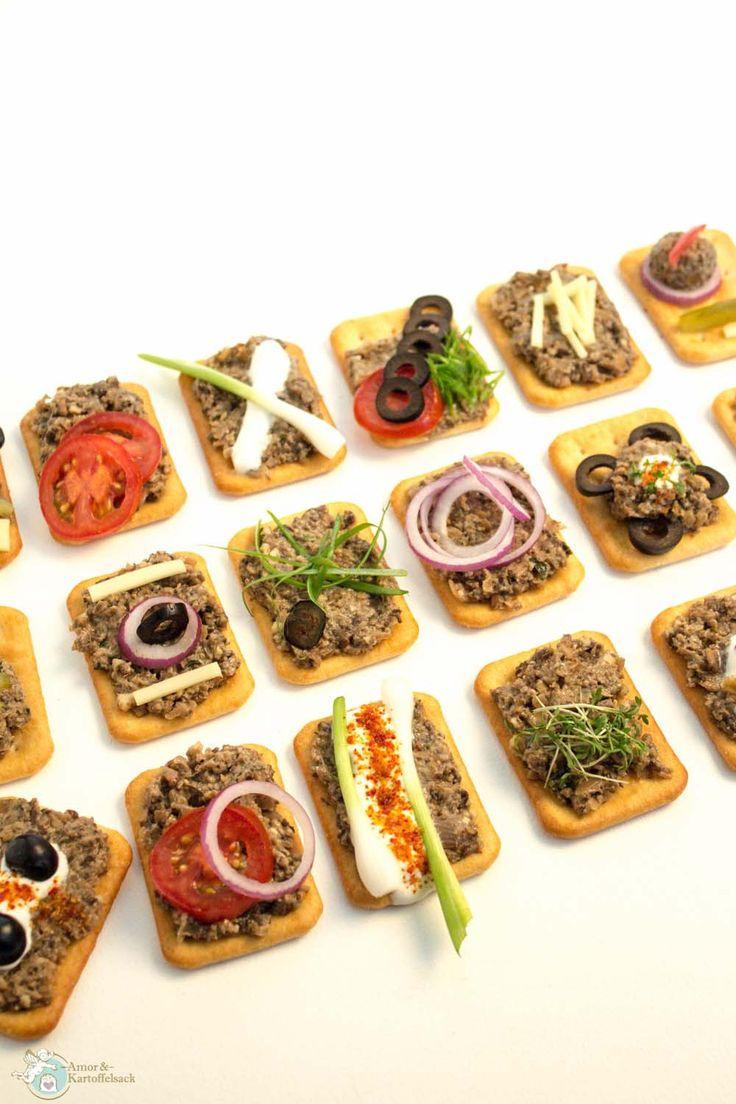 vegetarischer Brotaufstrich mit Champignons