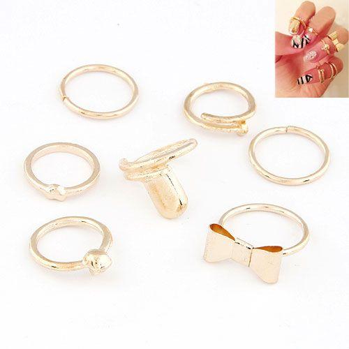Mid Finger Ring, Zinc Alloy