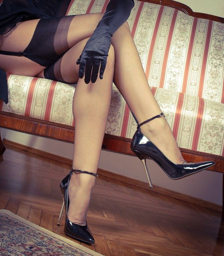 Blonde High Heels Stockings