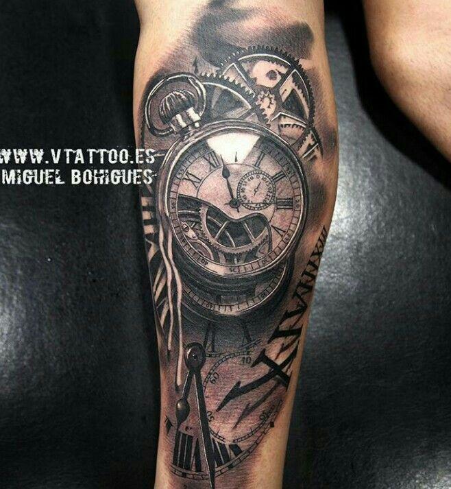 #clock #tattoo #blackwhite jetzt neu! ->. . . . . der Blog für den Gentleman.viele interessante Beiträge  - www.thegentlemanclub.de/blog