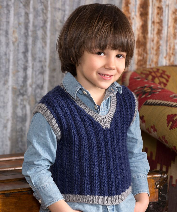 Boy's Seeded Rib Vest