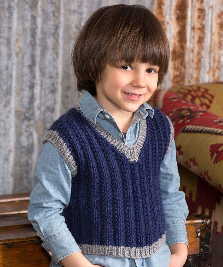 Boy's Seeded Rib Vest