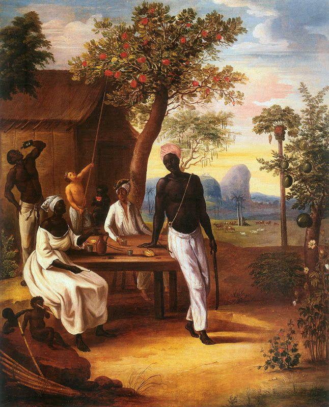 Le Masurier ; Esclaves noirs à la Martinique, 1775