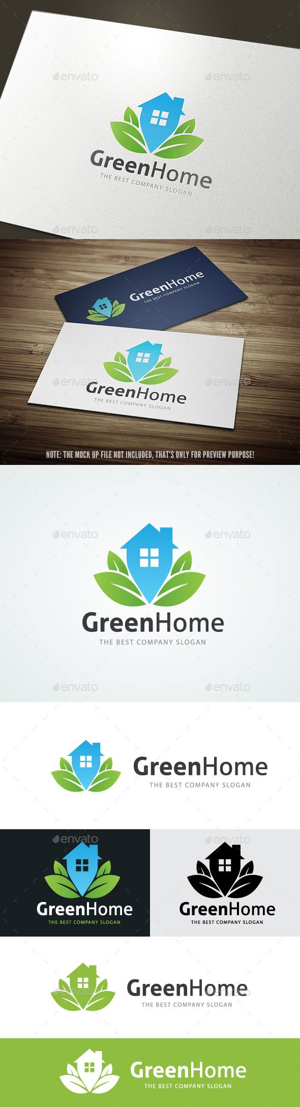 Green Home — Vector EPS #house #locater • Available here → https://graphicriver.net/item/green-home/9577577?ref=pxcr