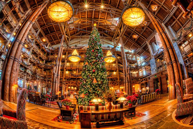 wilderness lodge christmas disney world -
