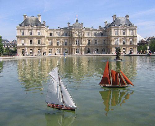 Jardin du Luxembourg, Paris. Le bassin