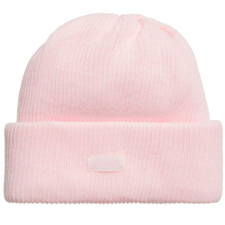 ABSORBA Girls Pink Organic Cotton Baby Hat