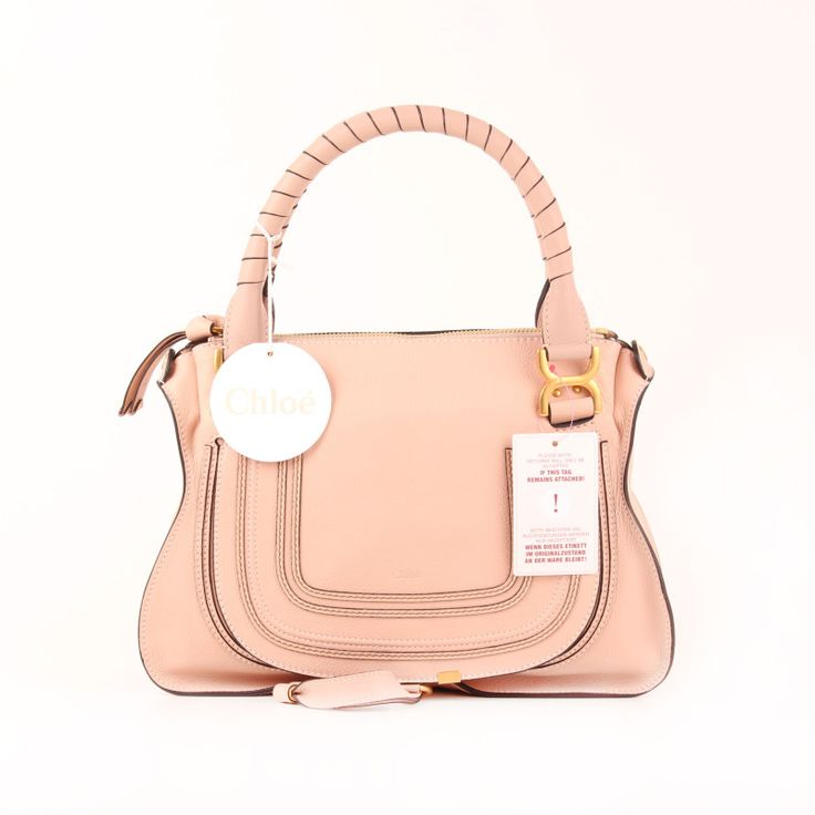 """Chloé """"Marcie"""" Mediano 2015 collection in Blush Nude."""