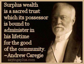 Andrew Carnegie: Wealthy Admirables