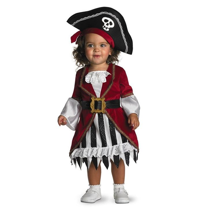 Pirate Princess Costume for Girls! Includes Full Dress with Attached Coat, and Hat with Attached Scarf. Available in one-size for children 12-18 months. We buy massive quantities so you save more. | eBay!