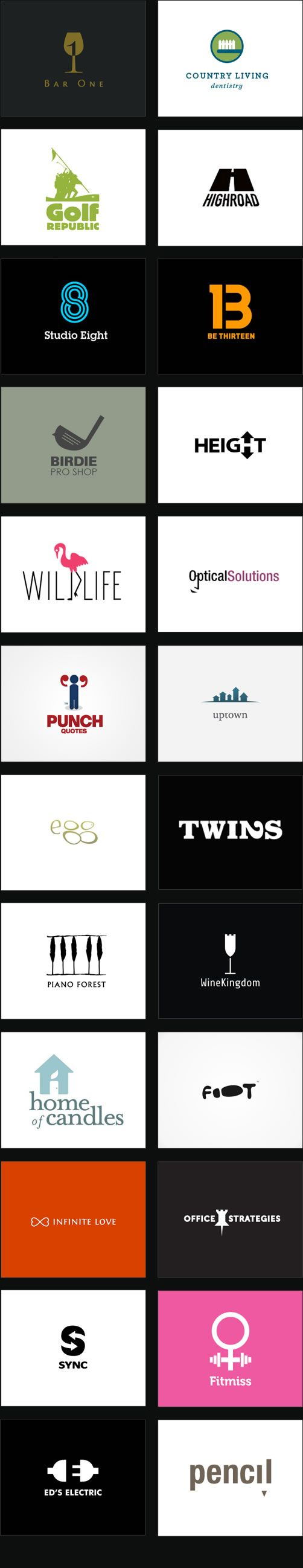 a round up of clever logos - mostly using funny names and figure-ground