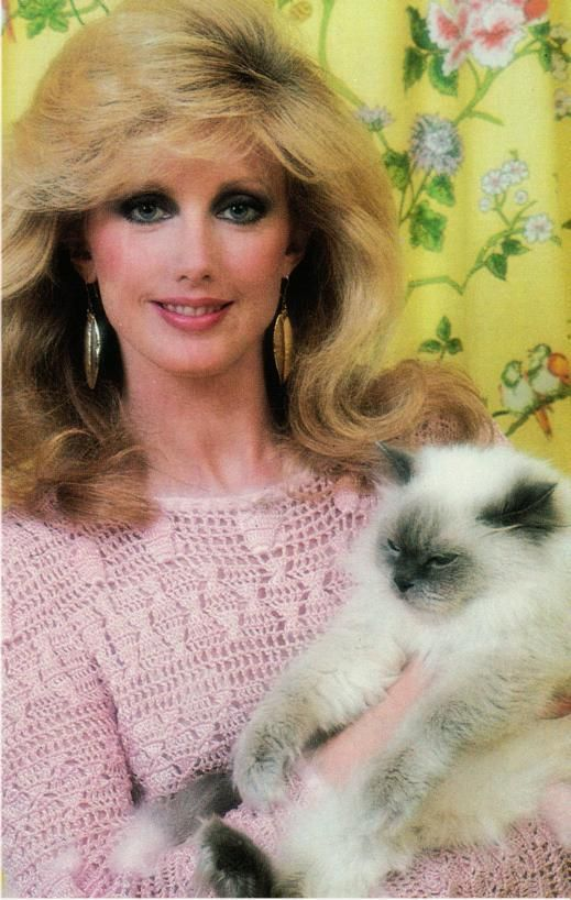 Morgan Fairchild and Cat Original 1970s 1980s Postcard | eBay