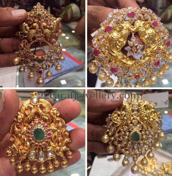Pachi Work Latest Pendant Sets by PSJ | Jewellery Designs  #Indian #Jewellery