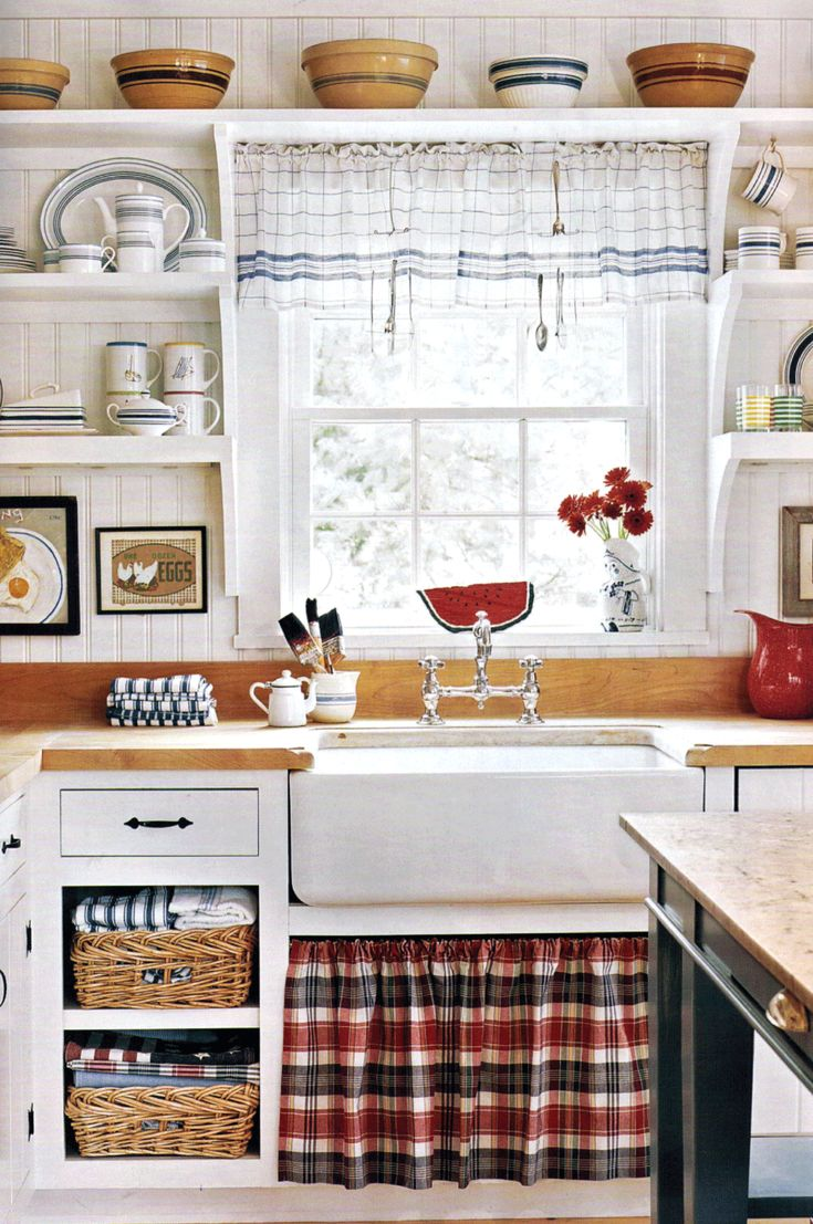 Attractive Hang Curtain Under Kitchen Sink · Pinterest ? The World?s Catalog Of Ideas