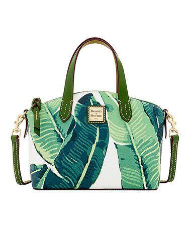 Dooney & Bourke White & Green Leaves Ruby Satchel #zulilyfinds