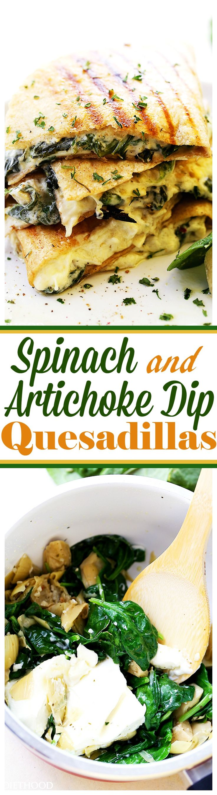 Spinach and Artichoke Dip Quesadillas – Easy to make, quick and ...