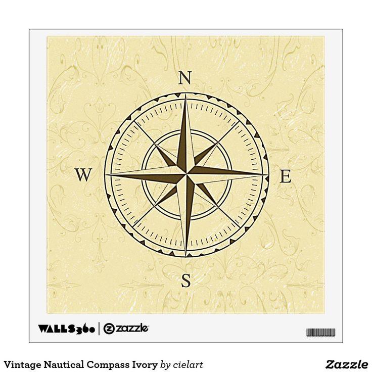 Contemporary Compass Rose Wall Decor Ensign - Art & Wall Decor ...