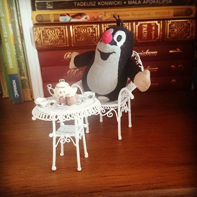 Mr Mole loves tea!  #krtek#mole#miniatures#books