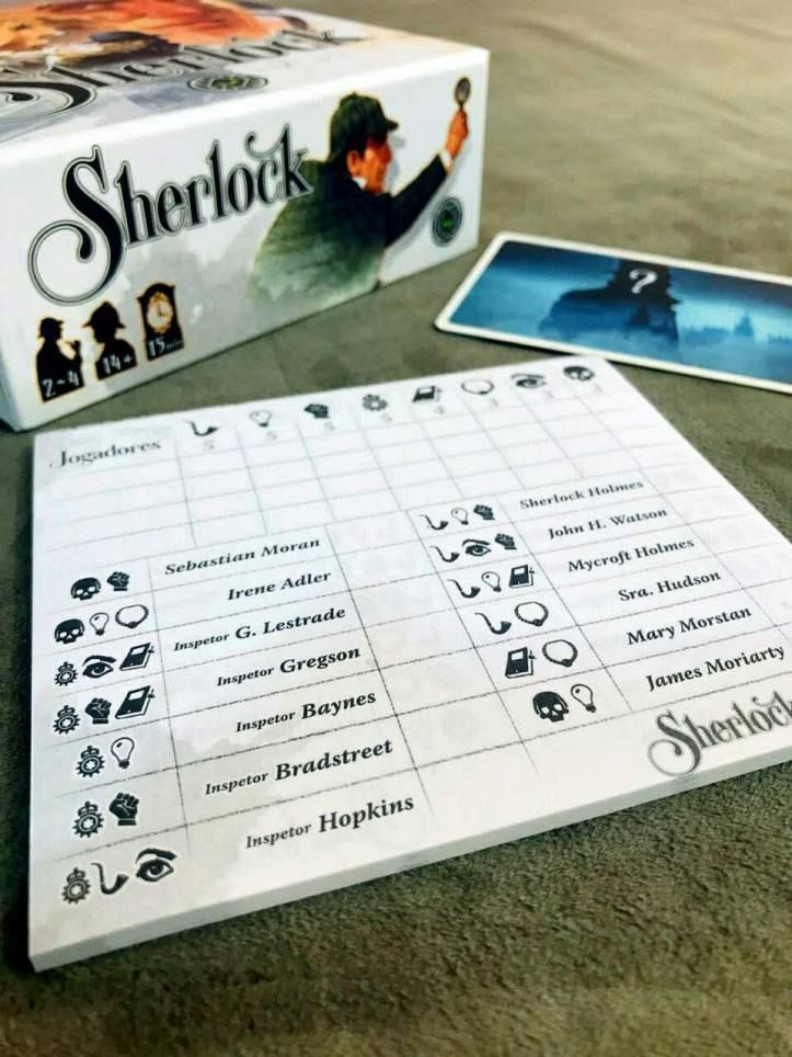 Sherlock 13 Um Jogo De Deducao Rapido E Facil Para Toda Familia Sherlock Jogos De Tabuleiro Jogos De Cartas