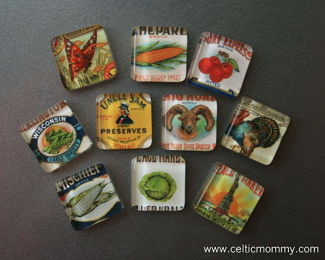 Glass Tile Photo Magnets... I want to make these with tiny family photos...: Celticmommy, Tile Magnets, Glasses, Gift Ideas, Diy Craft, Glass Magnets, Craft Ideas, Glass Tiles