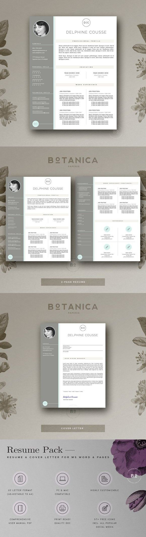 Minimal Resume Template CV Design 26