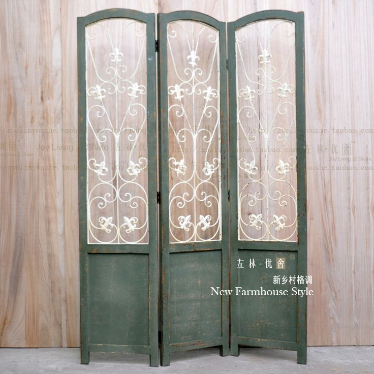 wood and metal room dividers