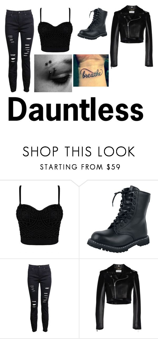 """""""Divergent Dauntless Outfit"""" by ebonymcvay ❤ liked on Polyvore featuring Yves Saint Laurent"""