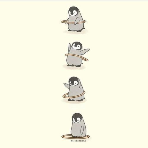 Милые пингвины рисунки