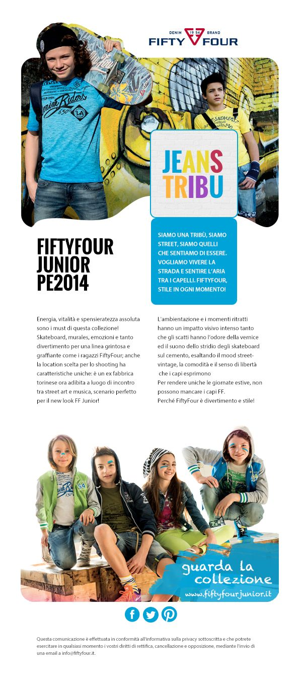 La newsletter della linea Junior di FiftyFour