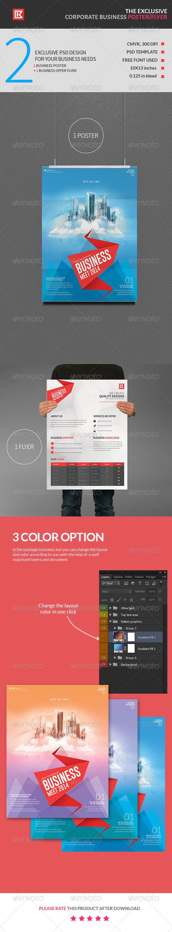 1 color poster design - Exclusive Corporate Business Poster And Flyer Ad Advertisement Business Company Corporate