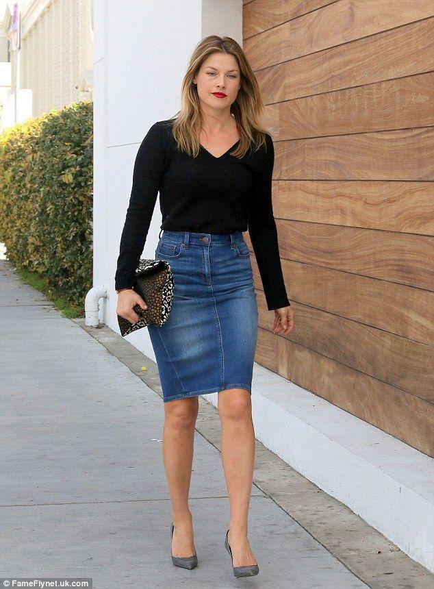 Tight Jean Skirt