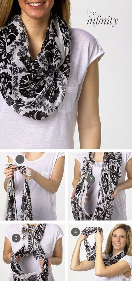 Fashion, Style And Beauty : Tie the knot: the Infinity, featuring the Soft Fringe Scarf in Julep Tulip Black