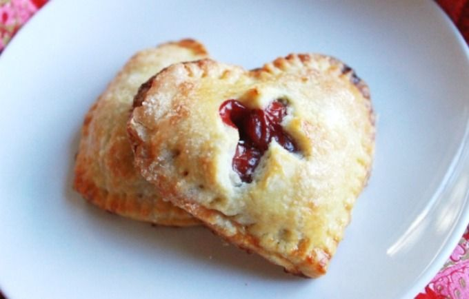 Cherry Hand Pies - Heart Shaped for Valentines Day