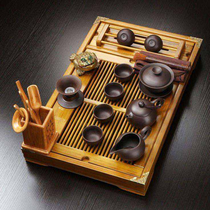 Top 20 Tea Platters: Chinese Yixing Zisha Real Original Ore Stoneware Tea Set