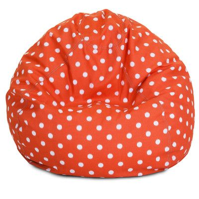 Ikat Dot Bean Bag Chair Color Orange
