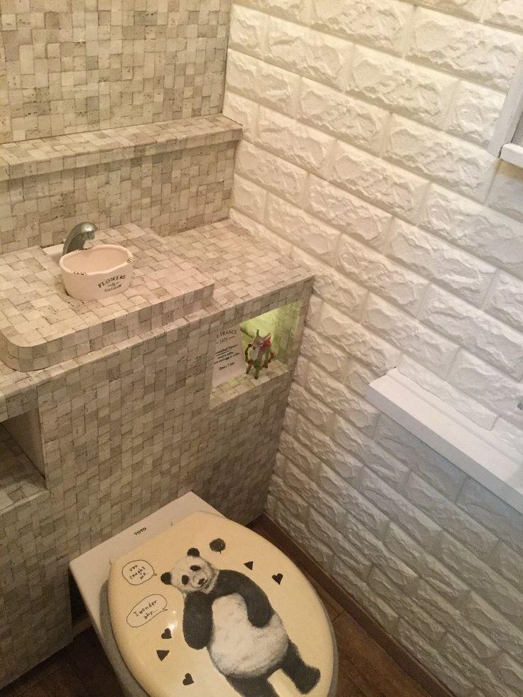 ダイソーでトイレが激変 トイレ 収納 アイデア トイレ リフォーム Diy トイレタンク 隠す