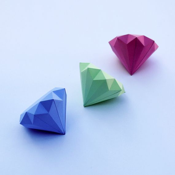Paper diamond (with template)