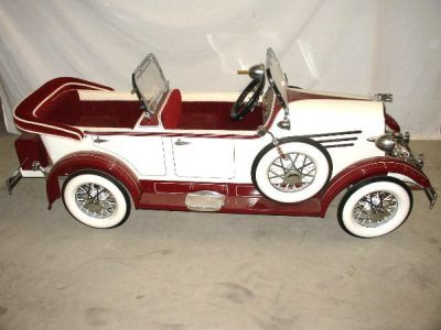 Custom Lincoln Tandem Pedal Car- American National