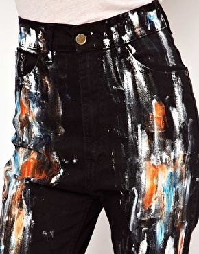 25+ Best Ideas about Painted Jeans on Pinterest