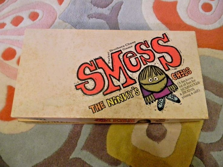 Vintage Board Game Smess Parker Brothers The Ninny's Chess 1970's #ParkerBrothers