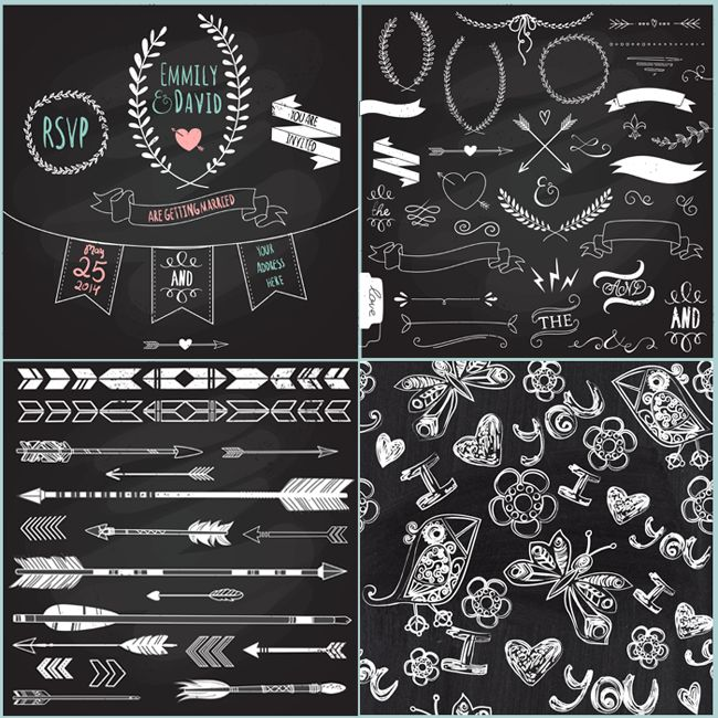 Step-by-step tutorial on how to create a simple chalkboard printable.