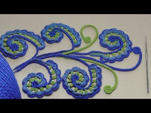 Урок вязания крючком. ЗАВИТОК для ирландского кружева.Irish crochet lace. - YouTube