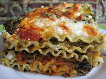 Pesto & Artichoke Spinach Lasagna